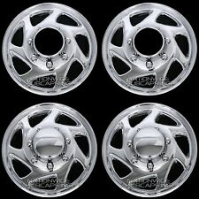 "4 New CHROME FORD 4x4 Truck Van 16"" 8 Lug Full Covers Rim Hub Caps 4 Steel Wheel"