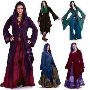 Velvet Faery Goddess Jacket, Boho Goa Psy Trance Coat Plus Size Pagan Clothing