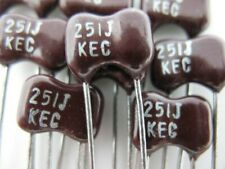 12pcs 250pf 251 500 Volts 5 Dip Silver Mica Capacitor Great For Rf