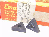 NEW SURPLUS  10PCS.  SANDVIK  TNMG 432  GRADE: 015  CARBIDE  INSERTS