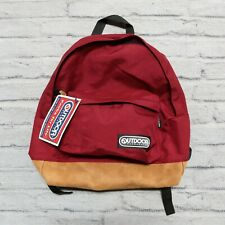 Vintage New Outdoor Products Leather Backpack Made in USA Hiking Day Pack