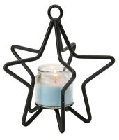 3-D STAR Wrought Iron Candle Stand Holiday Decor Holder in 3 Sizes USA HANDMADE
