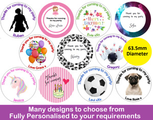 48 Birthday Stickers Personalised Labels Thank You For Coming To My Party FAST!
