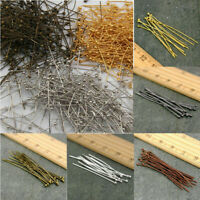 100PCS Gold Silver Plated Ball Head Pins Jewelry Finding 20/26/30/36/40/50mm