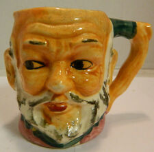 """Vintage Ceramic Toby Mug Gray Haired Bearded, Bald Man 3.13"""" x 3"""" Excellent Cond"""