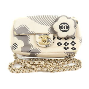 Chanel Shoulder Bag  Whites Canvas 2202380
