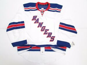 NEW YORK RANGERS AUTHENTIC AWAY TEAM ISSUED REEBOK EDGE 2.0 7287 JERSEY SIZE 58+