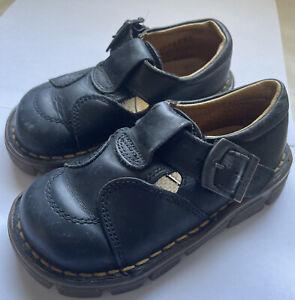 Toddler England Doc Martens Black Shoes Size 6 Boys Girls Baby Sandals