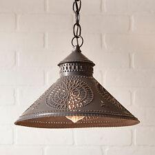 Stockbridge Shade Light in Black Tin w/ Chisel | Country Kitchen Lighting