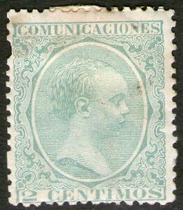 Spain 1889 King Alfonso X111 SG276 2c Green -  MH