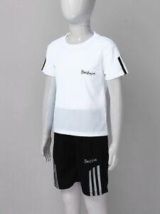 Girls Boys Summer Sportswear Outfits Breathable Net Short Sleeves T-shirt/Shorts