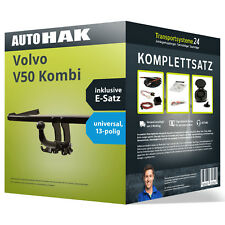 Anhängerkupplung abnehmbar VOLVO V50 Kombi +Elektrosatz NEU inkl. EBA PKW