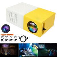 Portable mini HD 1080P LED Home Theater Cinema Video Movie Projector USB HDMI