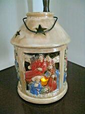Tii Collection Ceramic Nativity Votive Lantern