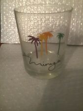 MIRAGE CASINO LAS VEGAS, NEVADA PALM TREE LOGO GLASS GREAT FOR ANY COLLECTION!