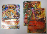 1x M Mega Charizard EX & 2x Charizard EX cards Holo Pokemon Flashfire Korean ver