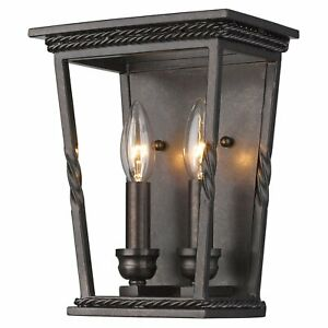 Golden Lighting Davenport 4214-WSC EB Wall Sconce - Etruscan Bronze Open Cage