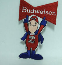 BUDWEISER BUD MAN BEER EMBROIDERED IRON-ON PATCH
