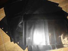 99351/ Philswiss 20 schwarze Hüllen geteilt für 80 Maximumkarten oder Postkarten