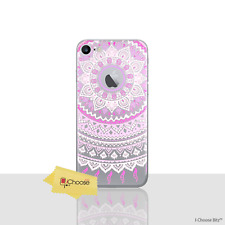 Mandala Case/cover Apple iPhone 5 5s SE Screen Protector / Silicone Pink Sun