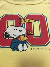 Vtg 70s 80s Ladies Snoopy Woodstock Peanuts Tank Top Strapy Shirt Womens Yellow