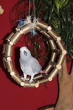 Papageien Freisitz SCHAUKEL Ringschaukel Papageien Sittiche Papageienspielzeug