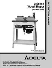 Delta 43-355 2 Speed Wood Shaper Instruction Manual