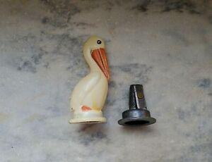 Vintage Celluloid Pelican Pencil Sharpener Figurine, Japan 1940's