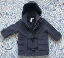 Janie and Jack Boys Gray Wool Blend Toggle Coat sz 12-24 Months