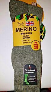 3 Pairs Men's Merino Military Wool Socks Outdoor Walking Boot Thermal  UK 6-11