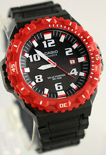 Casio MRW-S300H-4BV Mens Black/Red Tough SOLAR Watch 100M WR Analog Diver's New