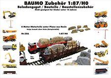 Nr.25A 6 Motor/Motorteile unter Plane 1:87/H0 Resin f.Baufahrzeuge Eisenbahn LKW