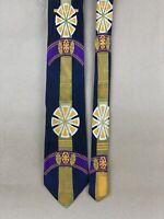 """Bachrach 100% Silk/Soie/Seta Necktie/Tie Cravatta Made in Italy 58"""" x 3.5"""""""