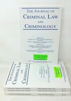 The Journal of Criminal Law and Criminology 4 issues 2017 Volume 107