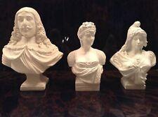 Lot de statuettes reprodction, buste Louis XIII, Josephine et Marianne