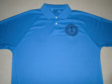 "Adidas Golf ClimaCool Mens Sky Blue ""Rocky Mountain Geologists"" Golfing Polo"