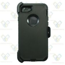 For Apple iPhone 7 Plus Defender Case Cover [Holster Clip Fits Otterbox] BLACK