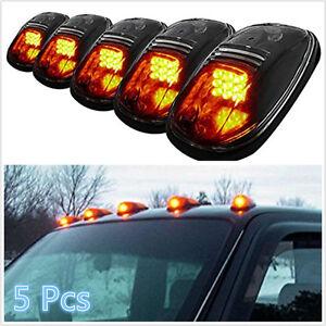 12V Amber Light Smoke Lens Car Roof Top Marker Running Clearance Lamp For Smart