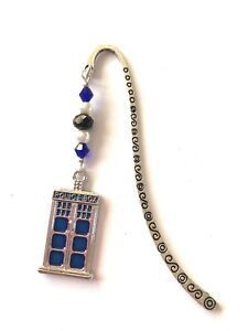 FUNKY DR WHO POLICE BOX BOOKMARK free P & P, in gift bag