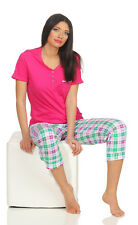 Schiesser Damen  Schlafanzug Pyjama  kurz Shorty 3/4  Design K300 Gr. 36 - 48