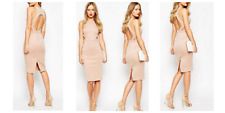 Asos Beige Sleeveless Party Wedding Occasion Dress Size 10