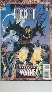 BATMAN #4 LEGENDS OF THE DARK KNIGHT SIGNED BY MARK WARD DC COMICS 1994 EB200