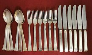 WMF 2500 Bauhaus  Dessertbesteck 18 teilig für 6 Personen 90er Silberauflage