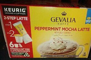 3 PAK~ GEVALIA~ Peppermint Mocha Latte~ 2-Step~  18 Pods ~ BB 7/2021
