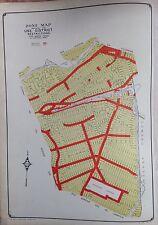 ORIG 1942 E. BELCHER HYDE ATLAS ZONE MAP QUEENS NEW YORK 20 X 28