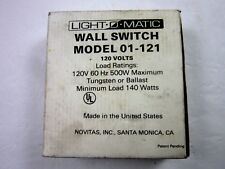 NEW LIGHT-O-MATIC 01-121 WALL SWITCH 120 VOLTS 60Hz 500W TUNGSTEN OR BALLAST