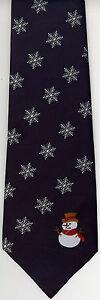 Christmas Snowman Snowflake Neck Tie UK Manufactured