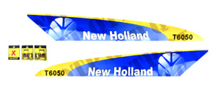 DECAL SET FOR NEW HOLLAND T6050 TRACTORS.