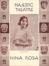 "Ethelind Terry ""NINA ROSA"" Guy Robertson / Armida / Sigmund Romberg 1930 Program"
