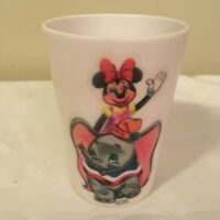 Vintage Minnie Mouse Dumbo Walt Disney Productions Small Childs Cup Melamine FS!